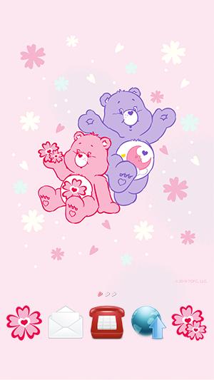 ケアベア 桜 ピンク