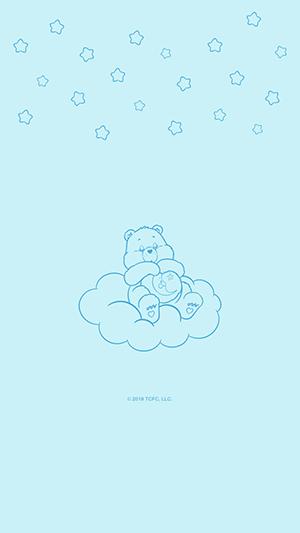 ケアベア 星 雲 シンプル
