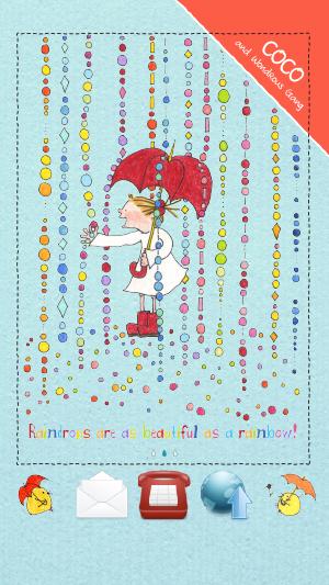 雨 青 傘 アンブレラ レインコート