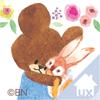 くまのがっこう ジャッキーのしんゆう うさぎ お花 花柄 ライブUX ドコモ キャラクター きせかえ