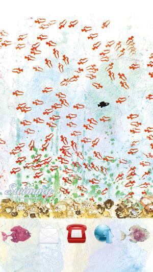 ライブUX ドコモ キャラクター きせかえ レオ・レオニ スイミー 絵本 海 魚